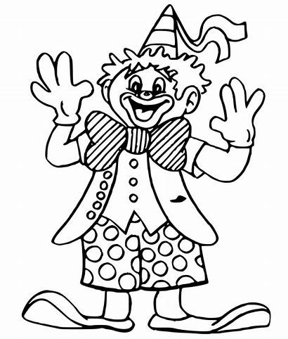 Clown Coloring Pages Jester Kid Female Template