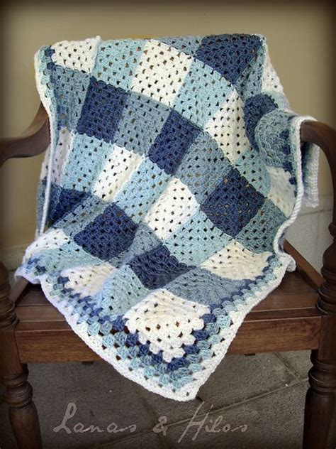 crochet square afghan use 3 shades of one color and add white i ve done this in pinks