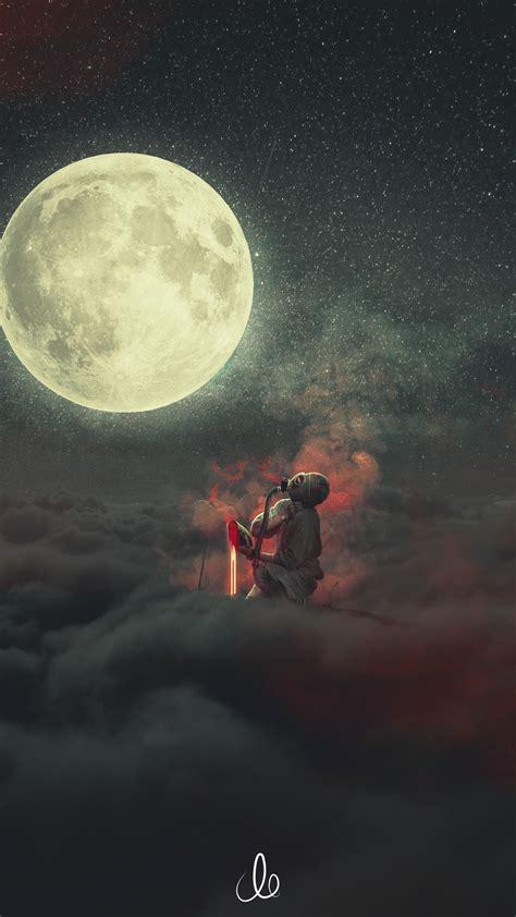 wallpaper demon dream moon clouds fantasy hd