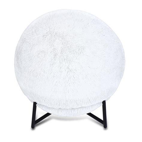 makika ballon ergonomique ballon de fitness avec fausse fourrure et pompe en blanc bureau