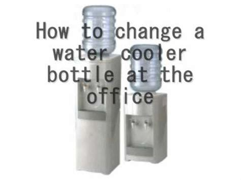 How To Change A Water Cooler Bottle At The Office  Youtube