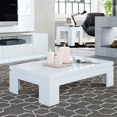 white gloss coffee table manhattan comfort bridge white gloss coffee table 2 1312