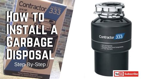 install  garbage disposal step  step youtube
