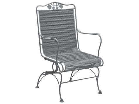 woodard briarwood wrought iron high back coil chair