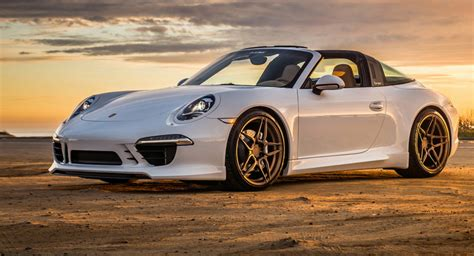 Porsche 911 Targa Poses With Matte Bronze Adv1 Wheels