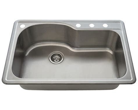 single bowl kitchen sink with offset drain t346 offset single bowl topmount stainless steel sink 9765