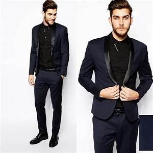 2015 Men Formal Dress Suits Fashion black navy Business ...