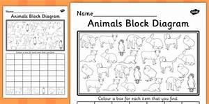 Animals Block Diagram Worksheet    Worksheet