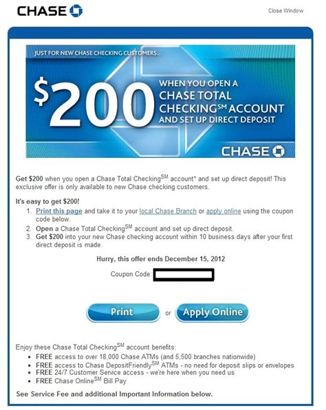 Check spelling or type a new query. Green Espirit: Chase $125, $150, $200 Checking Bonus Promotion (confirmed bonus received)