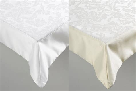 jacquard damask floral tablecloth poly cotton banqueting