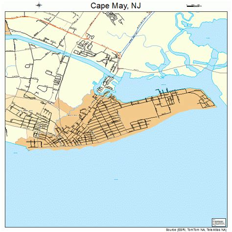 cape may new jersey map 3410270