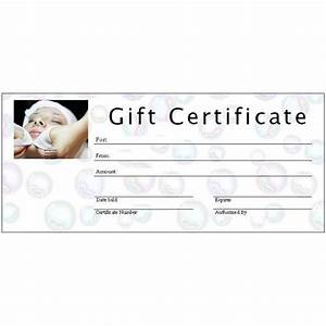 6 free printable gift certificate templates for ms publisher With salon gift certificate template free download