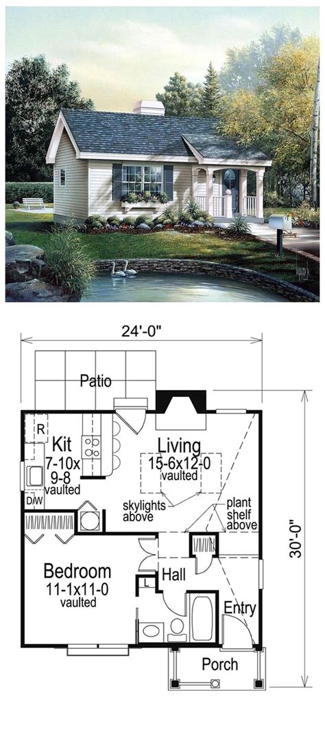 house plans with guest house cabin colonial cottage country ranch house plan 86955