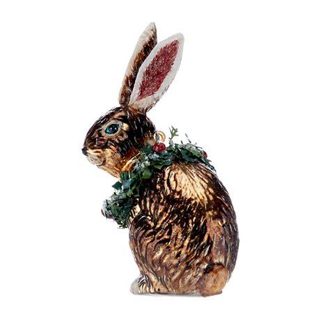 rabbit christmas ornaments forest friends winter rabbit ornament gump s