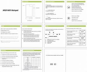 Iqsim M10 Iqsim Mobile Wifi Hotspot User Manual Booklet