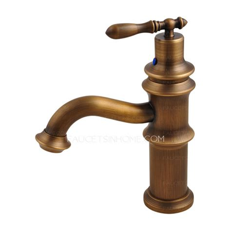 antique faucets bathroom sink antique brass brushed single handle bathroom sink faucet