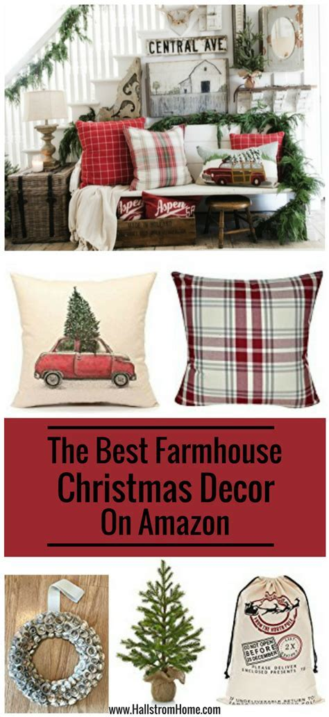 The Best Christmas Farmhouse Decor on Amazon ~ Hallstrom Home