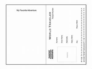 passport template 19 free word pdf psd illustrator With make your own passport template