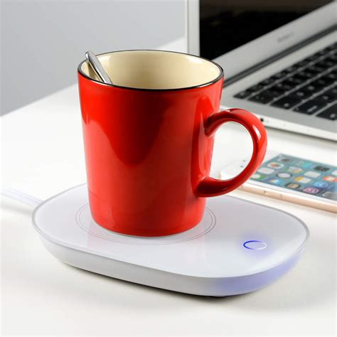 Once plugged in and switched on, electricity flows to a small heating coil built inside the device. Yuntec Coffee Mug Warmer, Cup Heater for Desk Coffee ...