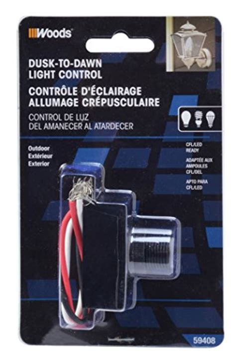 Woods Outdoor Hardwire Light Control With Photocell
