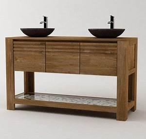 best meuble vasque salle de bain rustique gallery With meuble en manguier massif 18 meubles de salle de bain en bois massif zen atlantic bain