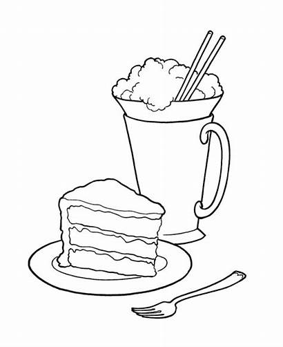 Coloring Pages Ice Cream Sweets Birthday Cake