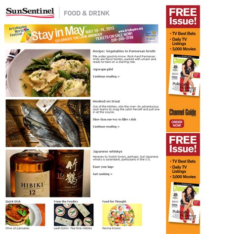 newsletter cuisine food drink newsletter sle sun sentinel