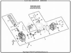 Homelite Bm903655d 3000 Watt Generator Parts Diagram For