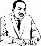 Coloring Luther Martin King Jr Dr Printable Drawing Sheets Mlk Cartoon Silhouette Sheet Children Getcolorings Getdrawings Clipartmag Popular Colorings sketch template