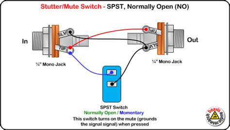 Ab Pedal Diagram by Mute Switch Spst Normally Open Wiring Diagram Wiring