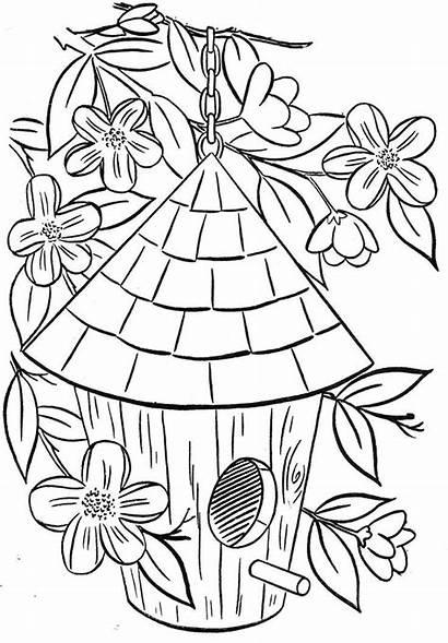 Coloring Birdhouse Popular