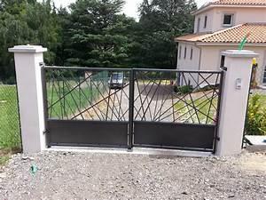 Portail Sur Mesure : cr ation de portail double vantaux sur mesure ~ Melissatoandfro.com Idées de Décoration
