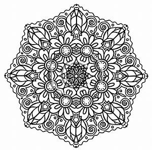 Free coloring pages of mandala flower
