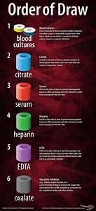 Blood Test Tube Color Chart Order Of Draw Poster Center For Phlebotomy Education