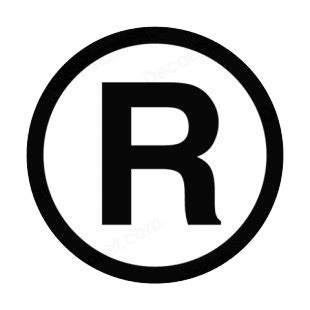 Registered Trademark Logo White