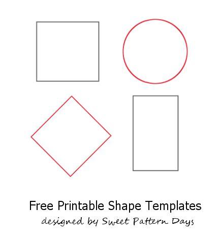 shapes templates  print  shape templates applique