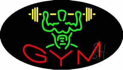 Gym Neon Sign Animated Signs Business Enlarge