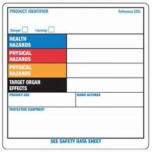 Blank label 4quot x 4quot ghs workplace orange system vinyl for Blank ghs labels