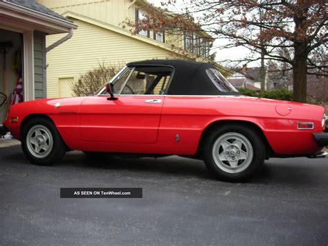 1982 Alfa Romeo Spider Ferrari Red