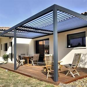 Pergola Toit Coulissant : pergola bioclimatique aluminium lames orientables protection solaire ~ Melissatoandfro.com Idées de Décoration