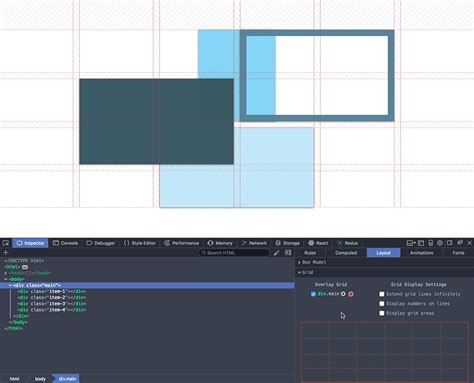 css grid template powerful new additions to the css grid inspector in firefox nightly mozilla hacks the