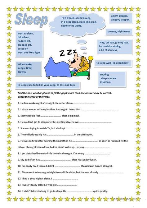 pin by olya malynovska on english sleep worksheets