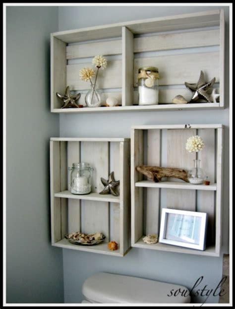 diy space saving bathroom shelves  storage ideas