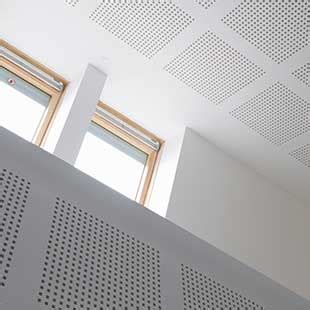 acoustic perforated  unperforated ceiling boards gyptone