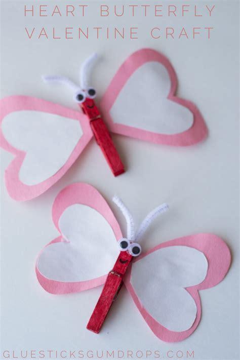 heart butterfly craft  valentines day valentines
