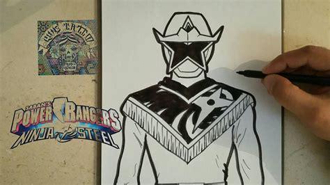 draw power ranger ninja steel gold como dibujar power range ninja steel dorado