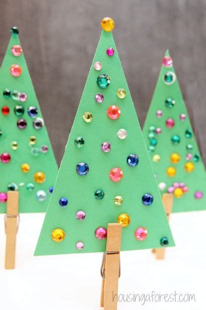 elementary school christmas tree crafts jeweled trees simple tree craft for