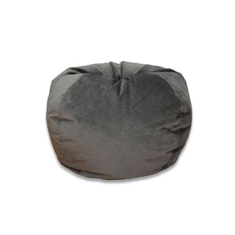 ace casual furniture pewter velvet bean bag 9802901 the