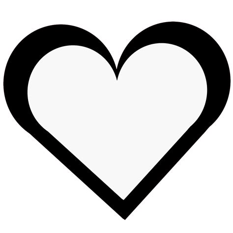 basic outlines basic heart outline free stock photo public domain pictures