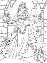 Coloring Sleeping Beauty Pages Printable Disney Colouring Sheets sketch template